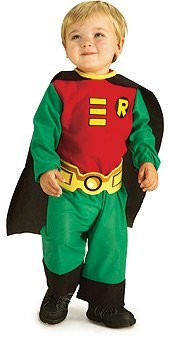 [Teen Titans Robin Boy Wonder Costume Toddler Baby 2-4] (Kids Batman And Robin Costumes)