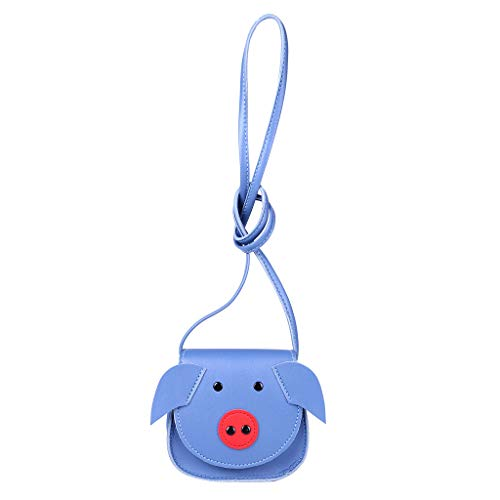 Sayolala Girls Crossbody Baby Kids Mini Cartoon Pig Coin Purse Shoulder Bag ()