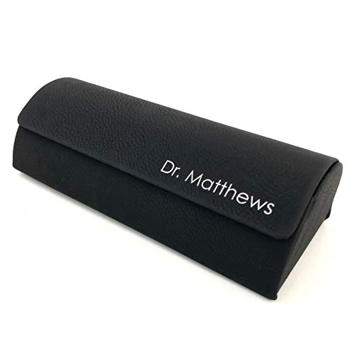 Personalized Glasses Case Eyeglasses Holder (Black with ()