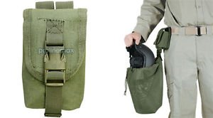 OD Green Voodoo Tactical Military Hunting Airsoft Molle Helmet Bag Utility  Pouch 17695e54f507c