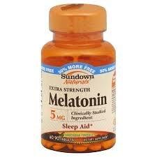 Sundown Naturals Extra Strength Melatonin Tablets, 5mg, 90 count by Sundown Naturals Strength 90 Tabs