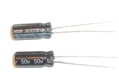 E-Projects B-0002-D06 Radial Electrolytic Capacitor, 22uF, 50V, 105 C (Pack of 5)
