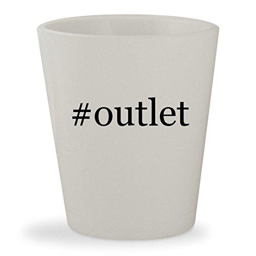 #outlet - White Hashtag Ceramic 1.5oz Shot - Outlets Stores Wrentham