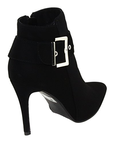 Forever Womens Lindsay-77 Pointed-Toe High Heel Dress Ankle Booties Black vhbe9vYh