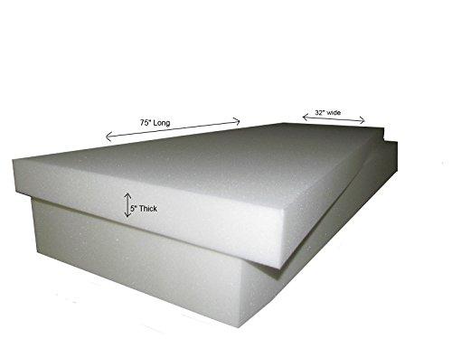 Foam Mattress-Twin/Single Size 5''T x 32''W x 75''L (1546) '' FIRM'' (Upholstery Foam cushion, RV,Campers & Boat Mattress) by Isellfoam (Image #1)