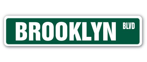BROOKLYN, NY Street Sign NYC New York City big | Indoor/Outdoor |  18