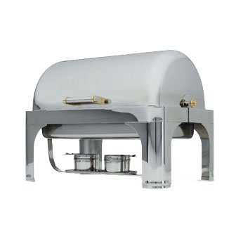 Vollrath Roll Top Vented dome cover Only for New York, New York Oblong 46080 Chafer, stainless, brilliant mirror finish, imported, 46084 (Oblong Top Roll Chafer)