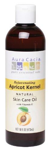 Aura Cacia Apricot Kernel Oil (Aura Cacia Natural Skin Care Oil, Rejuvenating Apricot Kernel with Vitamin E, 16 Fluid Ounce)