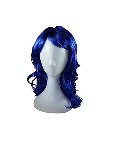 (Missamé Blue Color Wig for Dress Up, Cosplay, Kids Adult Halloween)
