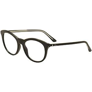 Dior Montaigne 41 Women Round Black Frame Eyeglasses 0VSW