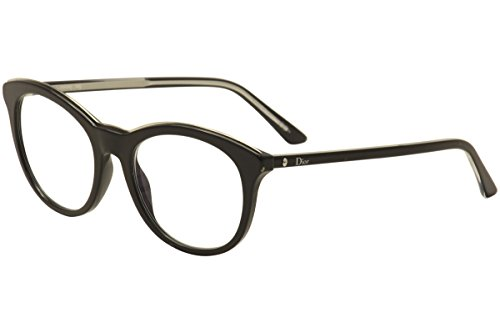 Dior Montaigne 41 Women Round Frame Eyeglasses (Black, Clear)
