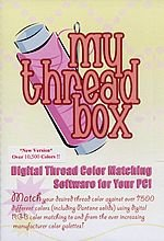 My Thread Box - Digital Thread Color Matching Software for Your PC! - Match your desired thread color against over 7500 different colors using digital RGB color matching to and from the ever increasing manufacturer color palettes!