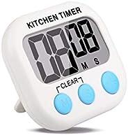 Timer Digital Cronômetro Imã Cozinha Treino Academia Luta 103 (Branco com verde)