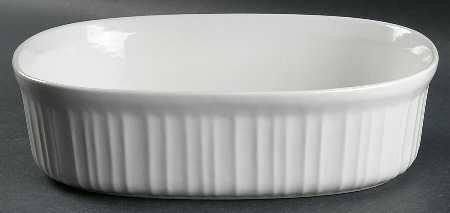 China Fine China Casserole (Corning French White (Bakeware) 2.5 Quart Oval Covered Casserole, No Lid, Fine China Dinnerware)