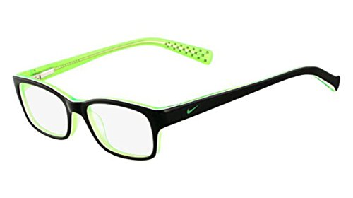 Nike Eyeglasses 5513 001 Black/Green/Crystal Demo 47 16 (5513 Glasses)