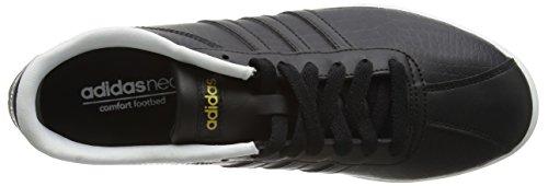 adidas Damen Courtset W Turnschuhe, Schwarz Schwarz (core Black/core Black /matte Gold)