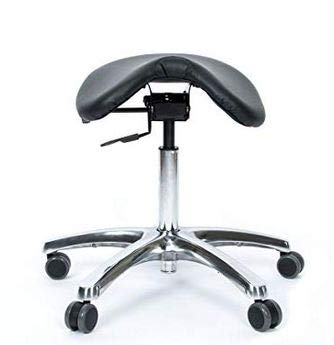 Jobri BetterPosture Saddle Chair -Multifunctional Ergonomic Back Posture Stool with Tilting Seat - Reduce Pressure on Lower Back and Improve Posture While -