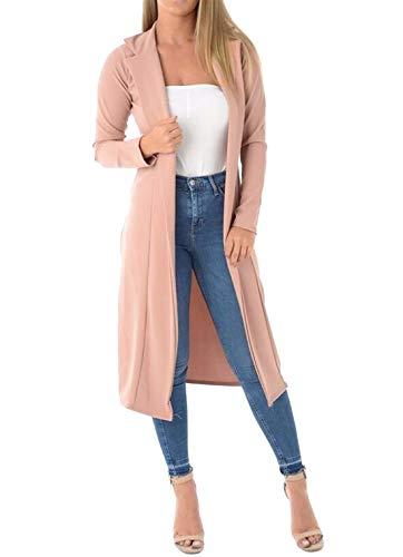 Rose Unique Longues Taille 21fashion Blouson Uni Manches Femme Noir 08wxg6Oxq