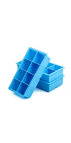 Elemental Firefly Silicone Ice Cube Trays (Set of 3) 24 Easy Release Large Square Molds FDA Approved from Elemental Firefly