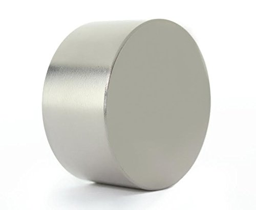 Rare Earth Neodymium Magnet  Strong Magnetic Fastener (40mm Diameter x 20mm Thick) Thick Round Disc  Garage, Home, Scientific Use  100 lb. Hold
