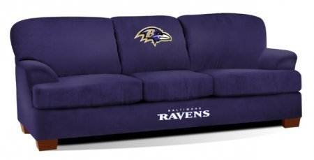 Wonderful Imperial Officially Licensed NFL Furniture: First Team Microfiber  Sofa/Couch, Baltimore Ravens