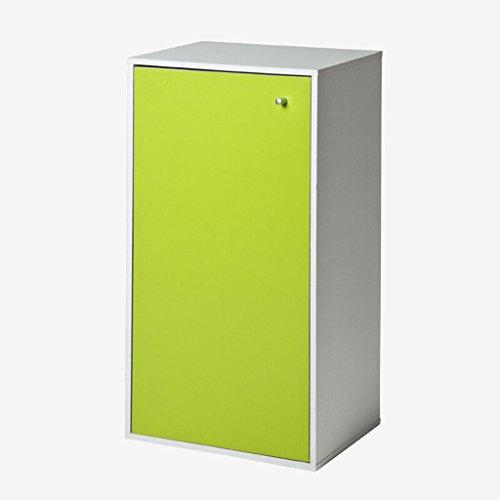 DFHHG® Bibliothèque, 3 couches Porte-chaussures à une porte Boîte à chaussures Vert Blanc Érable Couleur 42 * 30 * 80 Cm durable ( Couleur : #1 )