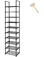 Shoe Rack, Sturdy Metal Shoe Rack Organizer,Narrow Shoe Rack,Shoe Racks for Closets,Shoes Rack,Shoe Stand,Shoe Shelf