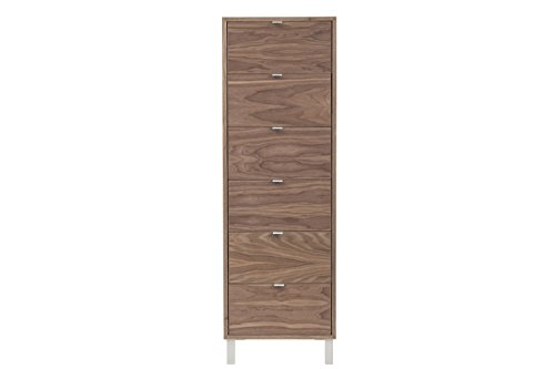 Urbangreen HL6WUnf High Line Lingerie Chest in Walnut, Unfinished