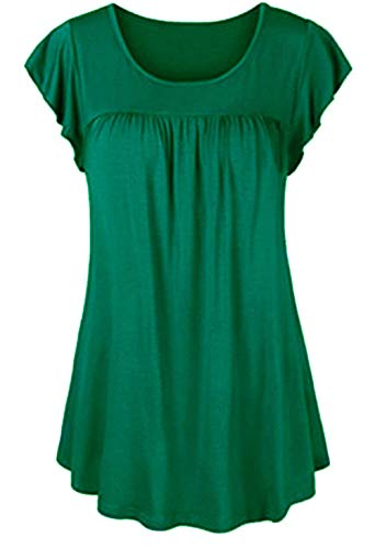 Moda Tunic Manica Unita Stile T color New Jinsh shirt Size Da Top Donna Elegante Estate S Corta Grün Lila Girocollo Tinta Leisure Speciale 6q0T8q