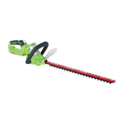 GreenWorks Enhanced 24V Li-Ion 22-Inch Cordless Hedge Trimmer with Rotating Handle -- Tool Only (Discontinued by Manufacturer) by Greenworks
