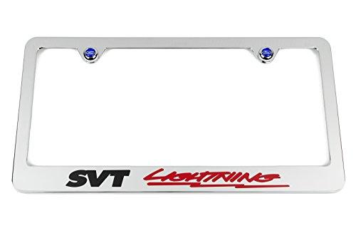 SVT LIGHTNING Chrome License Plate Frame - Ford SVT (Ford F150 Lightning)