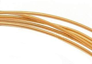 Beadaholique 14K Gold Filled Wire 22 Gauge Round Half Hard (5 Feet) (Wire Filled Gold Round)