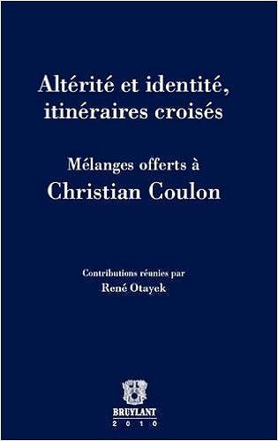 Livre Altérité et identité, itinéraires croisés epub pdf