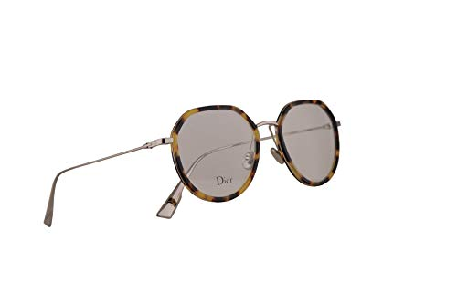 Christian Dior DiorstellaireO9 Eyeglasses 50-18-145 Havana Grey w/Demo Clear Lens 8JD StellaireO9 DiorStellaire O9