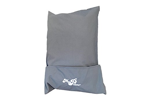 MyPillow Roll N Go Travel Pillow Rolls Into It's Own Pillow Case, Included (Frosted Gray)