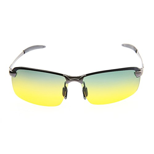 Vision Boat - Day and Night Polarized Light, Rectangular Sunglasses for Men and Women, UV Protection, Framework is Firm, Used for Driving, Sports, Houseboat, Running, Fishing, Racing, Skiing, Climbing and Trekking