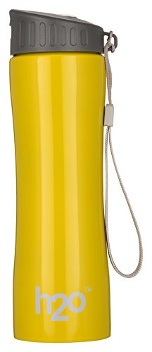 H2O Stainless Steel Water Bottle, 550 ml, Yellow