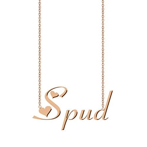 (ZAloha Personalized Custom Name Necklace Spud)