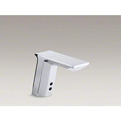 KOHLER K-13468-CP Geometric Single-Hole Touch Less AC-Powered Bathroom Sink Faucet with Insight Technology, Temperature Mixer and 6-3/4-Inch Spout, Polished Chrome