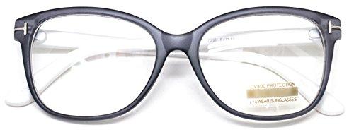 Retro Nerd Thin Framed Eye Glasses Clear Lens Horn Rimmed Geek Spectacles - Framed Glasses Plastic