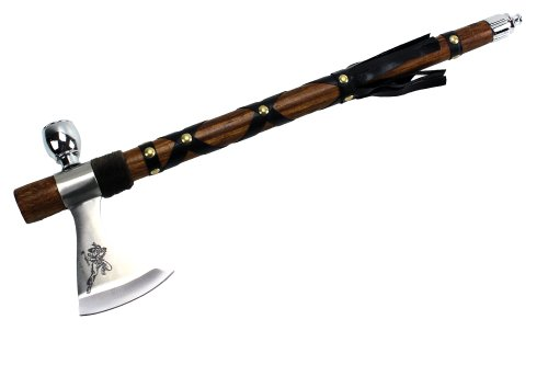 Indian Peace Pipe Tomahawk (Wuu Jau Co L-117 Native American Peace Pipe Tomahawk Axe,)
