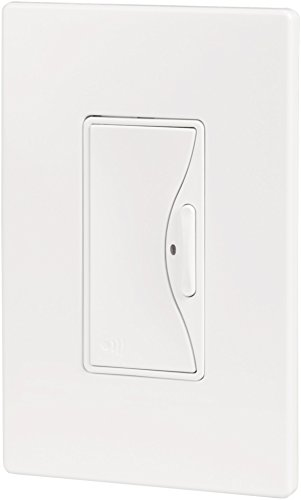 Cooper Wiring Devices RF9500AW Aspire RF Battery Operated Switch/Dimmer, Alpine White (Aspire Rf Smart Dimmer)
