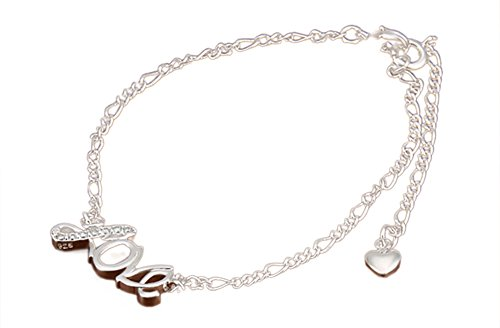 efloral-womens-inlay-diamond-chain-anklet-braceletlove-heart-star-cross-wing-shaped-for-choose