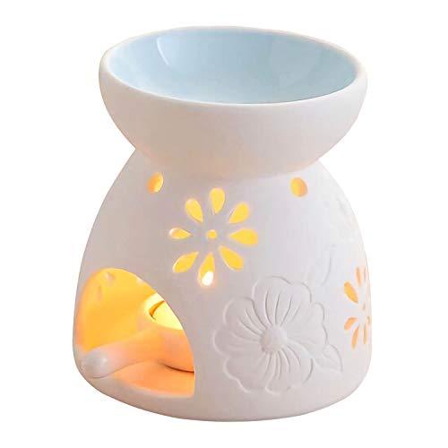 Ceramic Tea Light Candle Holder/Wax Melt Warmer,Singeek Essential Oil...