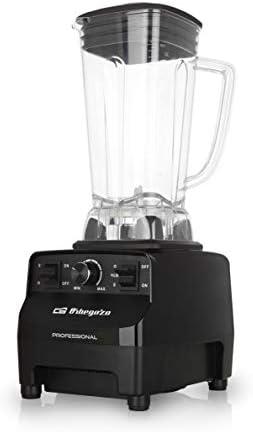 Orbegozo BV 9650 - Batidora de vaso profesional, motor AC de cobre de alto rendimiento, vaso 2L de tritán libre de BPA, 30.000 RPM, 1500 W, regulador electrónico de potencia, cuchilla INOX