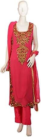 Sanskriti Pink Casual Kurta & Churidar Set For Women