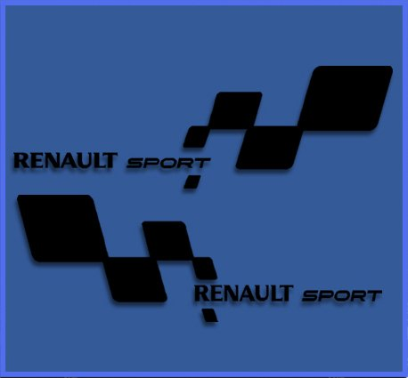 Negro Ecoshirt DS-5R65-RSBT Pegatinas Renault RS 33 Dr1018 Vinilo Adesivi Decal Aufkleber Клей Stickers Car Voiture Sport Racing