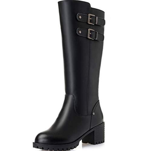 Più Black Donna Lana Invernale Stivali Alto Tacco Velluto Con Da Martin Shiney E Di Antiscivolo qzw6gAxq