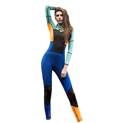 MILIMIEYIK Womens Full Wetsuits Premium 1.5mm Neoprene Long Sleeve Long Leg Back Zip for Diving Snorkeling Swimming Orange