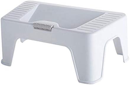 プラスチック便座のフットスツールスクワットスツールチャイルドスリップ防止フットステップスツール(ホワイト42 * 26 * 17 cm)